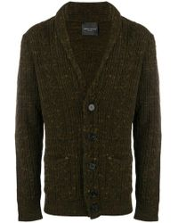 Roberto Collina - Long-sleeve Fitted Cardigan - Lyst