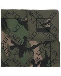 Valentino - Vltn Camouflage Scarf - Lyst