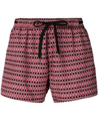 Moschino - Drawstring Geometric Swim Shorts - Lyst