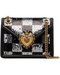 Dolce & Gabbana Devotion スパンコールショルダーバッグ - ブラック