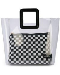 58d5f9a6ac Ganni Fairmont Checked Tote in Red - Lyst