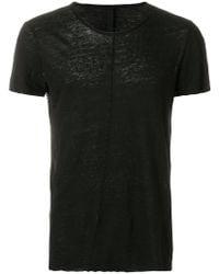 Poeme Bohemien - Distressed Slim Fit T-shirt - Lyst