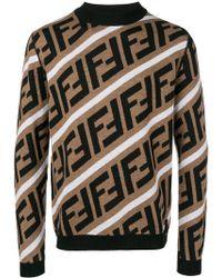 Fendi - Diagonal Monogram Sweater - Lyst