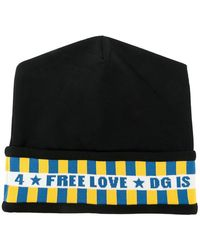 0bb22e44e6b Dolce   Gabbana Heathered Knit Beanie in Black for Men - Lyst