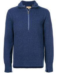 Burberry - Zip Sweater - Lyst