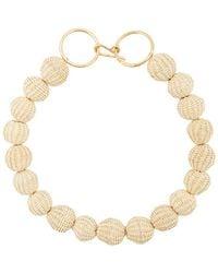 Carolina Herrera - Raffia Beads Necklace - Lyst