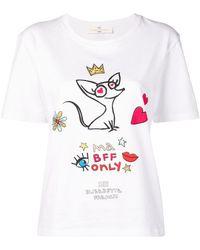 Elisabetta Franchi - Camiseta con estampado Cherie BFF - Lyst