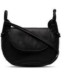Bottega Veneta - Black Leather Cross Body Bag - Lyst
