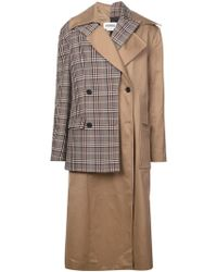 Monse - Layered Double Breasted Coat - Lyst