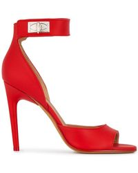 Givenchy - Shark Lock Suede Sandals - Lyst