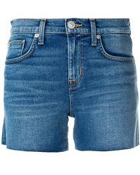 Hudson Jeans - Frayed Denim Shorts - Lyst