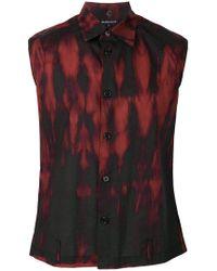Ann Demeulemeester - Sleeveless Printed Shirt - Lyst