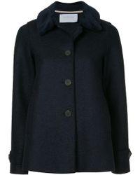 Harris Wharf London - Loden Faux Fur Trimmed Jacket - Lyst
