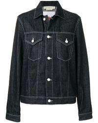 Marni - Rabbit Print Denim Jacket - Lyst