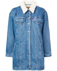 Levi's - Giacca in denim lunga - Lyst