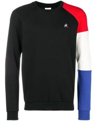 Le Coq Sportif - Logo Colour-block Jumper - Lyst
