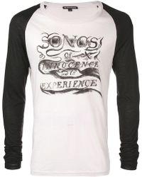 Ann Demeulemeester - Songs T-shirt - Lyst