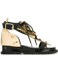 Sacai - Lace Top Sandals - Lyst