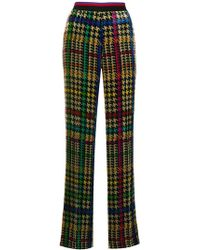 Etro - Printed Flared Trousers - Lyst