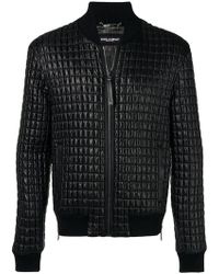 Dolce & Gabbana - Quilted Zipped Jacket - Lyst