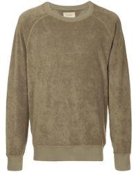 Nudie Jeans - Frottee-Sweatshirt mit Raglanärmeln - Lyst