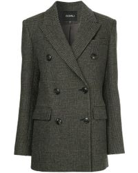 Goen.J - Checked Double-breasted Jacket - Lyst