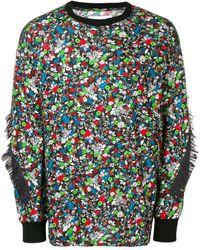 Facetasm - Fringed Floral Sweatshirt - Lyst