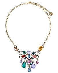 Lanvin - Short Clustered Stone Necklace - Lyst