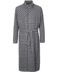 Stephan Schneider - Checked Belted Trench Coat - Lyst