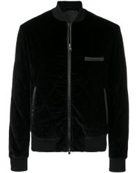 Larusmiani - Quilted Velvet Bomber Jacket - Lyst