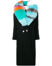 Giada Benincasa - Contrast Collar Coat - Lyst