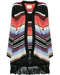 Laneus - Striped Oversized Cardigan - Lyst