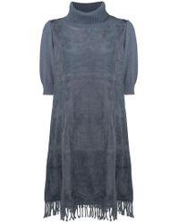 Fabiana Filippi - Ribbed Turtleneck Dress - Lyst