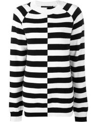 Haider Ackermann - Oversized Striped Sweater - Lyst
