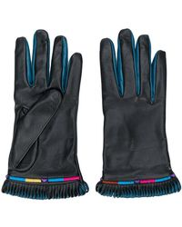 Etro - Fringed Contrast Gloves - Lyst