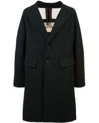Ziggy Chen - Oversized Single-breasted Coat - Lyst