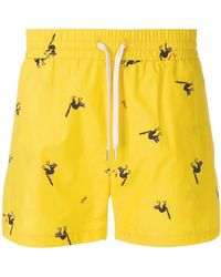 Band of Outsiders - Angry Cat Track Shorts - Lyst