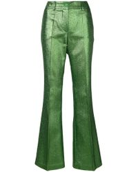 P.A.R.O.S.H. - Metallic Flared Trousers - Lyst