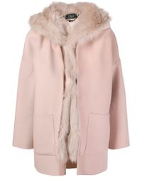 Clips - Hooded Coat - Lyst