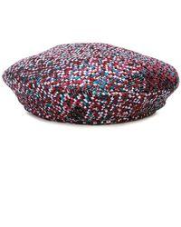 Lyst - Maison Michel Lara Hooded Hat 03a2b22c1dc4
