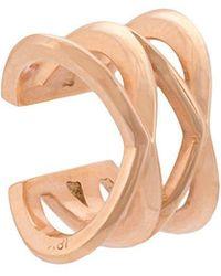 Eva Fehren - 14kt Rose Gold Double X Ear Cuff - Lyst