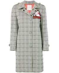 Marco De Vincenzo - Prince Of Wales Trench Coat - Lyst