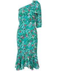 Saloni - Juliet Floral Dress - Lyst