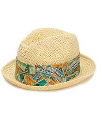 Jacob Cohen - Woven Trilby Hat - Lyst