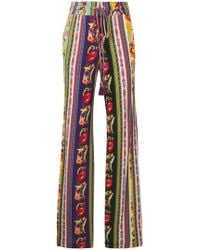 Etro - Multi-print High Waisted Trousers - Lyst