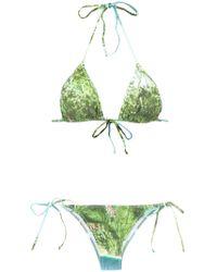 Isolda - Foliage Print Bikini Set - Lyst
