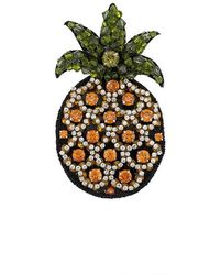 N°21 - Embellished Pineapple Brooch - Lyst