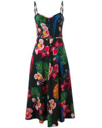 Valentino   Tropical Dream Midi Dress   Lyst