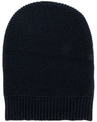 classic knitted beanie hat - Blue P.A.R.O.S.H. QGY0tRk