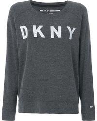 DKNY - Logo Long-sleeve Sweatshirt - Lyst